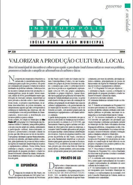 Valorizar a Produção Cultural Local