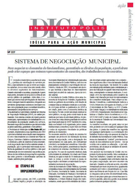 Sistema de Negociação Municipal
