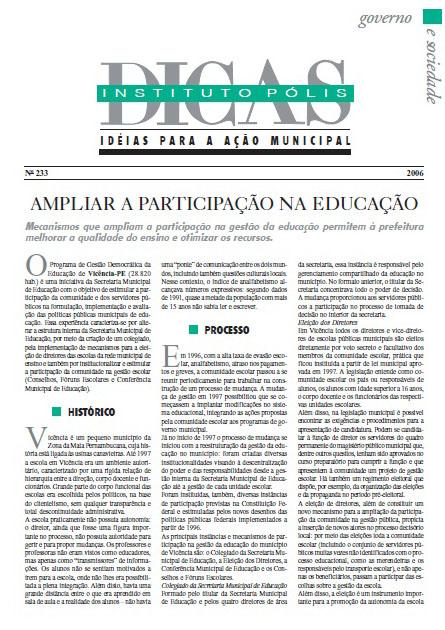 Ampliar a participação na educação